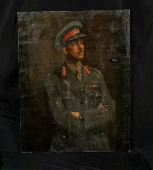 1919 WWI Portrait Oil Painting
