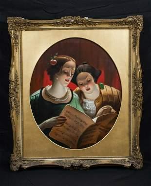 Ladies Singing Oil Painting