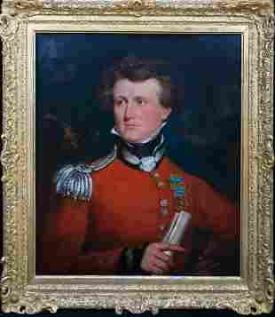 Military Portrait Oil Painting