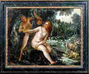 Adam & Eve Oil Painting