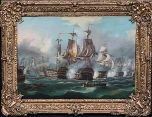 The Battle Of Trafalgar Oil Painting
