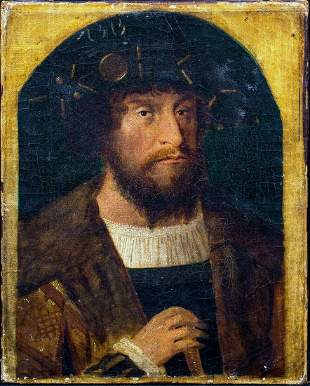 Portrait Of Christian II Oil Painting