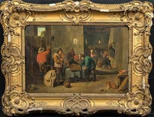 Backgammon Oil Painting