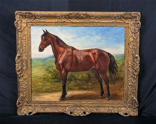 Horse In A Landscape Oil Painting