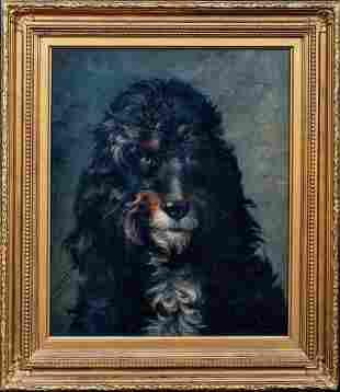 Portrait Of A Poodle Oil Painting