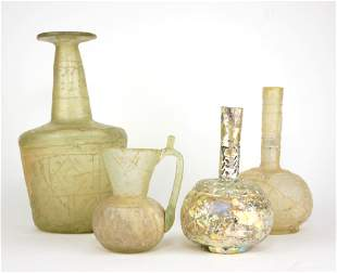 A SELECTION OF FOUR VARIOUS PERSIAN 10 TH CENTURY VASES
