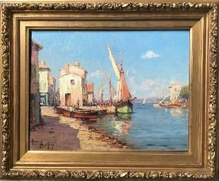 Boats at a Mediterranean Port