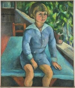 Portrait of A Boy Siting Oil Painting