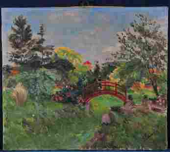 Small Bridge Oil Painting