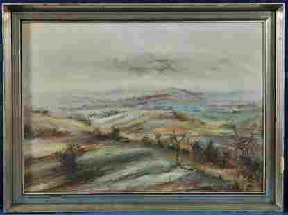 Hills In Falltime Oil Painting