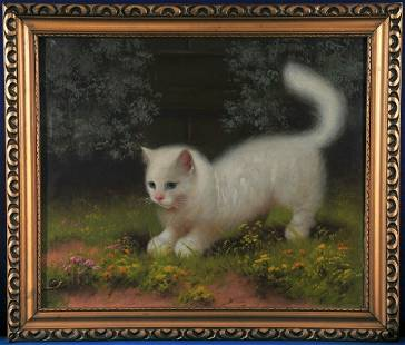 Cats Playing With A Snail Oil Painting