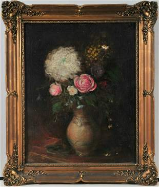 Flowers In A Pot Oil Painting