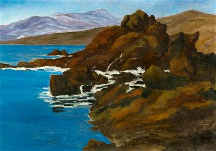 Seashore In Normandy Oil Painting
