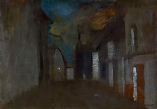 Evening Lights Oil Painting