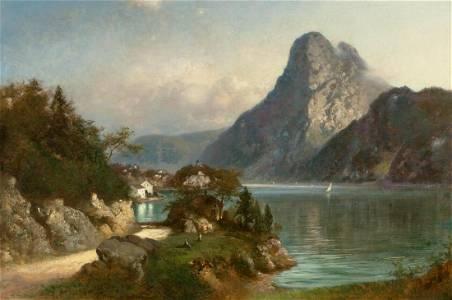 Brodszky Sandor, Konigssee Oil Painting