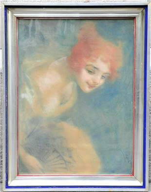 Portrait of A Lady With A Hand Fan Oil Painting