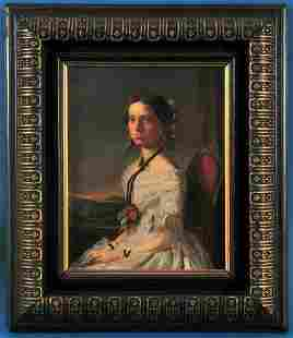 Portrait of A Seated Young Lady Oil Painting