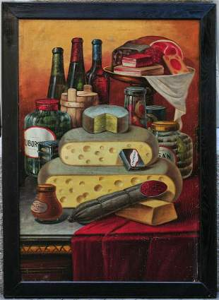 Food and Dairy Products Oil Painting