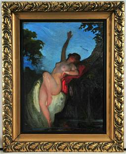 Nude Portrait of A Lady Oil Painting