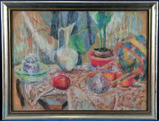 Pants and Vase Oil Painting