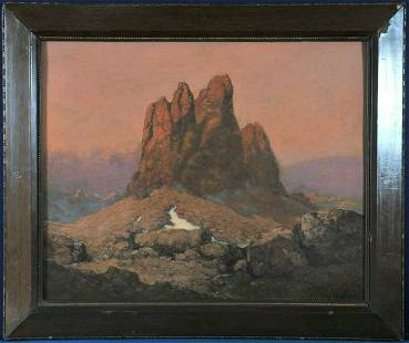 Landscape With Mountains Oil Painting