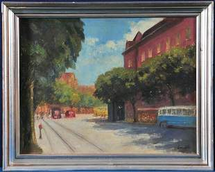 Street View of Budapest Oil Painting