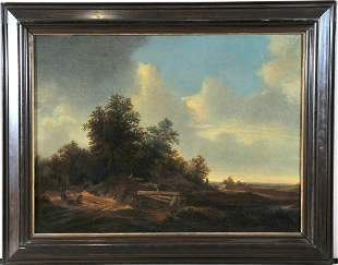 Wooded Field Oil Painting