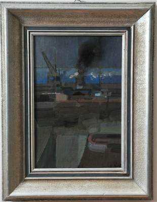 Hungarian Port Oil Painting