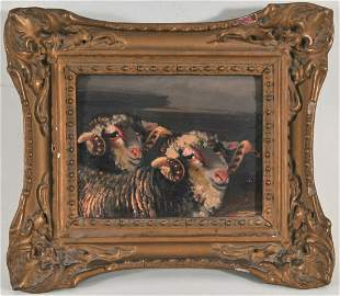 Rams Oil Painting