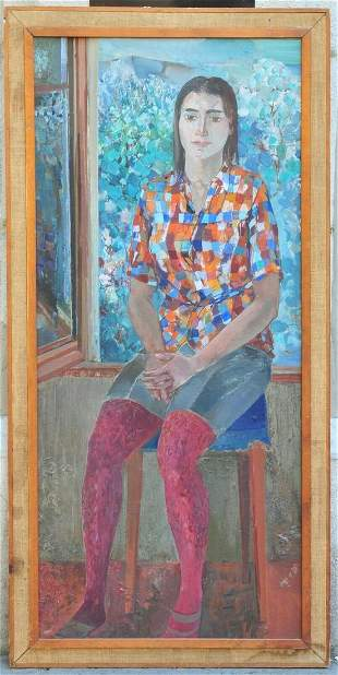 Portrait of A Seated Lady Oil Painting