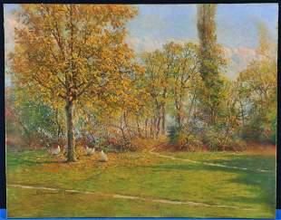 Landscape of A Park Oil Painting