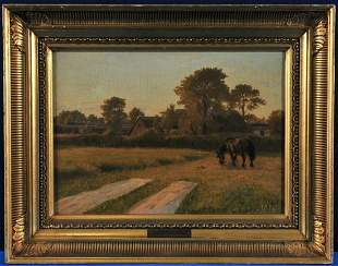Horse In A Field Oil Painting