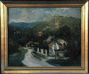 Street View Oil Painting