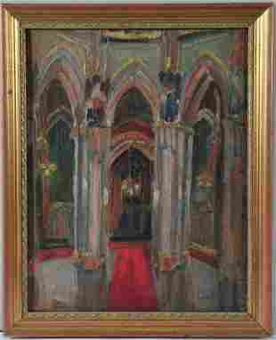 Painting of A Church Oil Painting