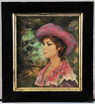 Portrait of A Pretty Lady Oil Painting