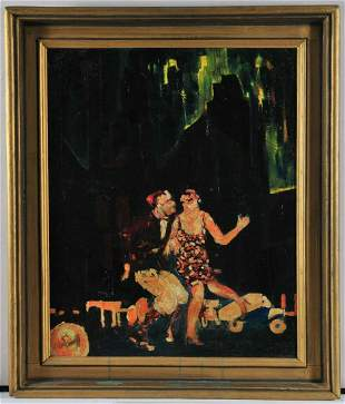 HS Rome 1920 Oil Painting