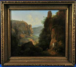 Landscape of Mountains Oil Painting