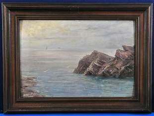 Sea Side England Oil Painting