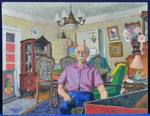 Self Portrait, 1981 Oil Painting