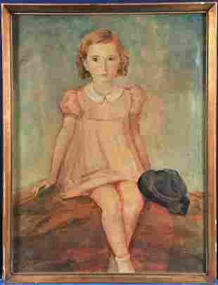 Seated Young Girl Oil Painting