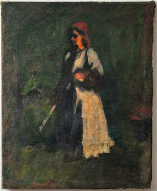 Skech of A Countrywomen Oil Painting