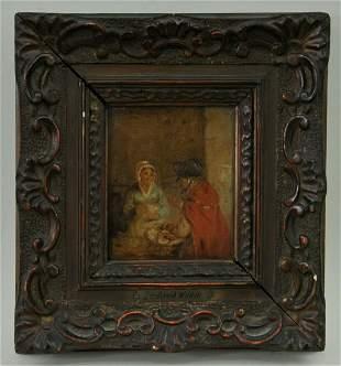Conversation Between Two Ladies Oil Painting
