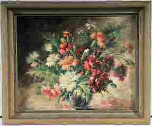 Flowers On A Table Oil Painting