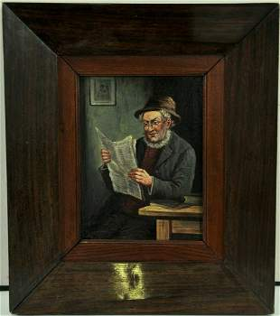 Portrait of A Reading Man Oil Painting