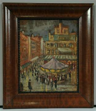 Travelling Circus Oil Painting