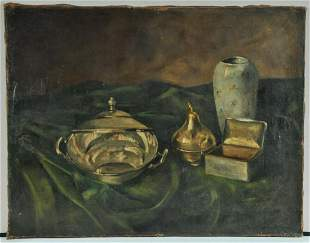 Silver Objects Oil Painting