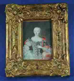 Portrait With the Hungarian Crown Oil Painting