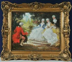 Rococo Scene Oil Painting