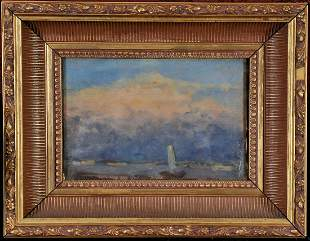 Sailing Boat On the Sea Oil Painting
