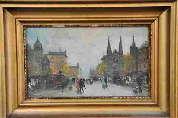 Street Scene, Vienna Oil Painting